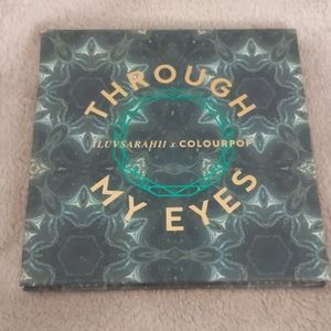 Gently used through my eyes colourpop palette